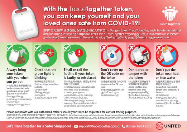 트레이스투게더 토큰(TraceTogether token) 휴대용 접촉 추적 장치 [사진: SNDGO]